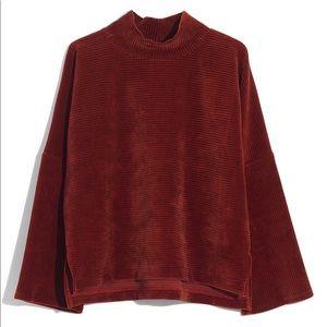 Madewell Texture & Thread Corduroy Mockneck Top